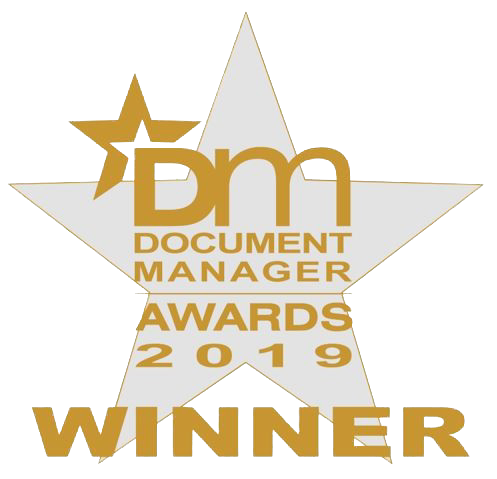 Document manager awards 2019 logo