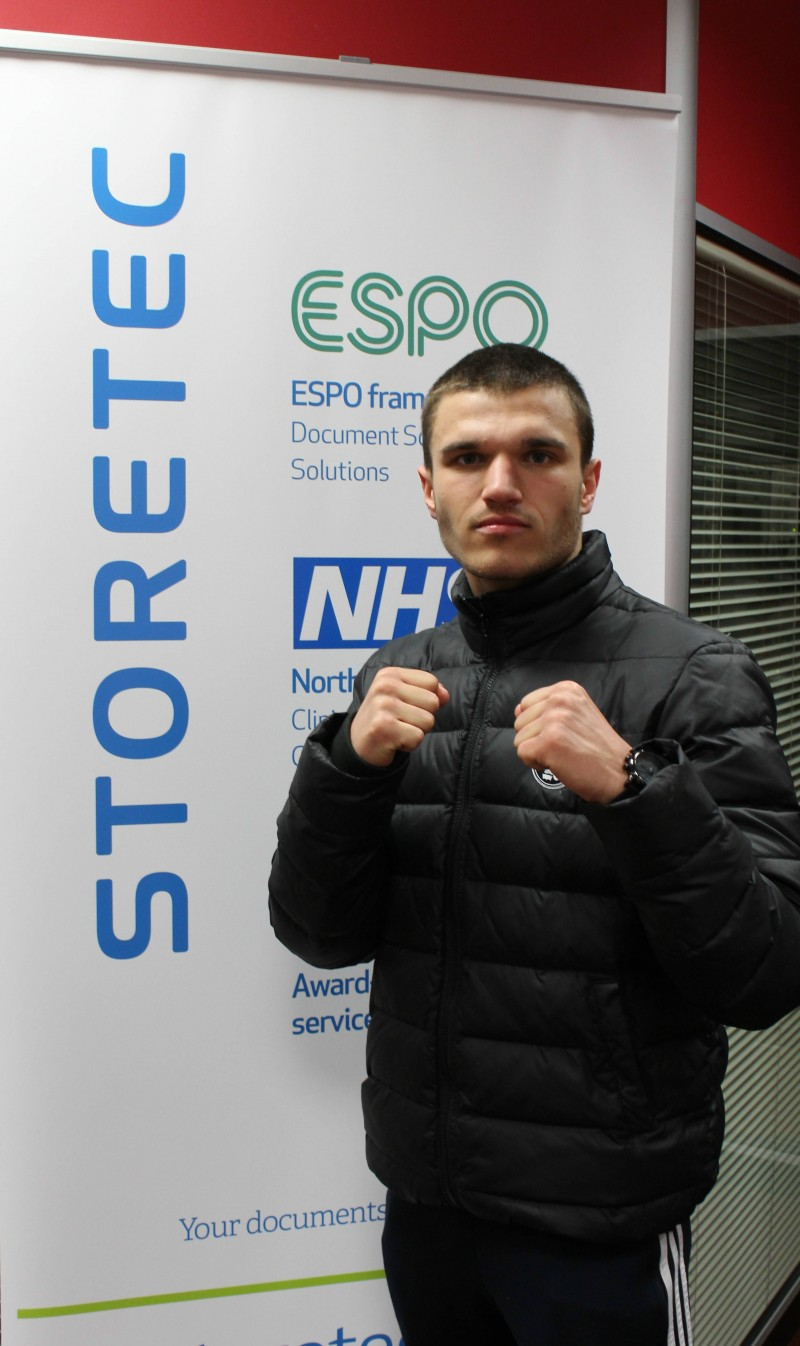 Storetec Sponsor local boxer Connor Coghill